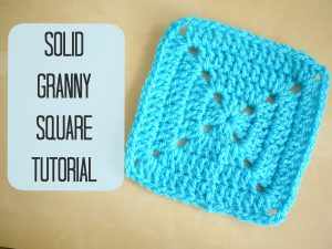 How To Crochet A Solid Granny Square For Beginners